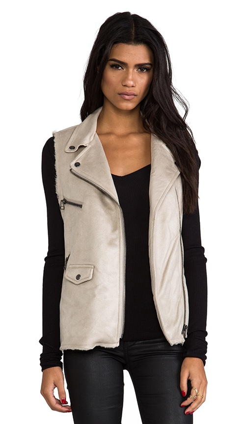 Vegan Leather and Faux Fur City Vest