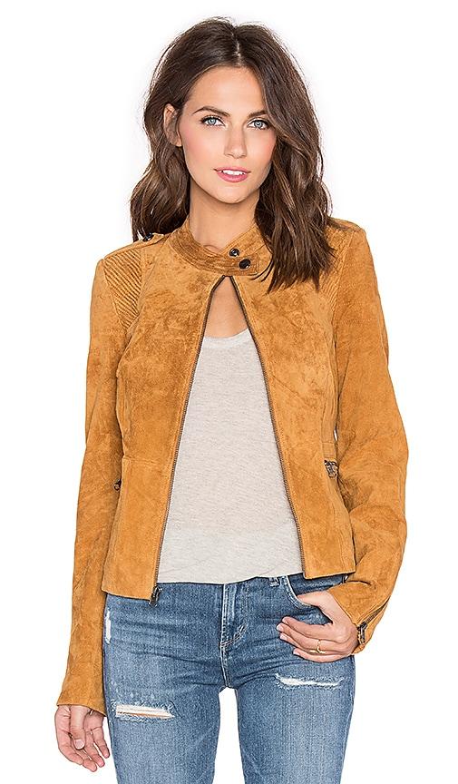 Sanctuary Suede Moto Jacket in Light Maple