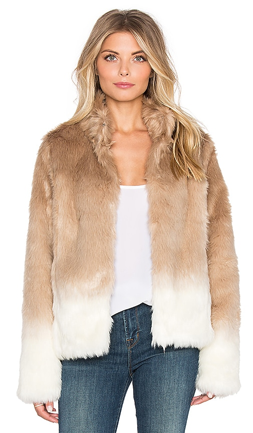 Faux Fur Chubby Funnel Neck Bomber