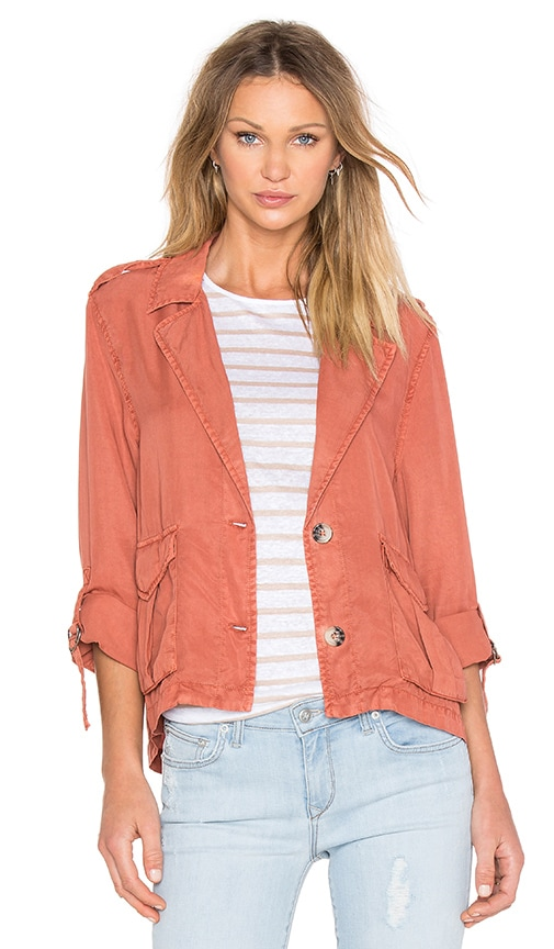 Sanctuary Desert Shirt Jacket in Rust