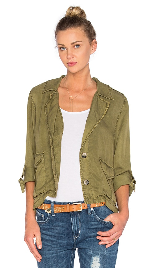 Sanctuary Desert Shirt Jacket in Green