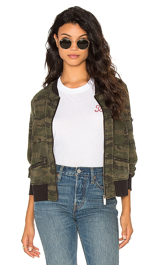 Sanctuary Bomber Jacket in Army