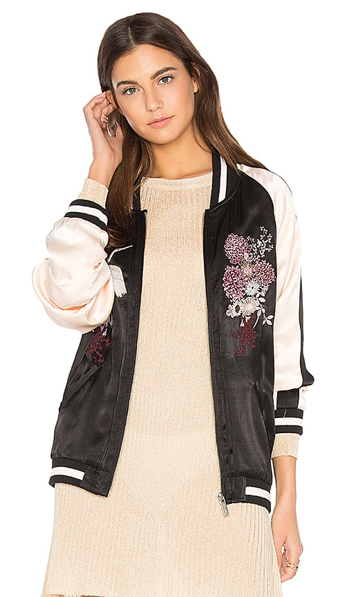 Sanctuary Relaxed Sakura Blossom Bomber in Black