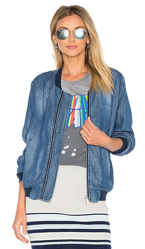 Sanctuary Bomber Jacket in Blue