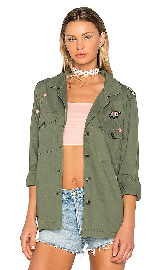 Sanctuary Flower Field Jacket in Army