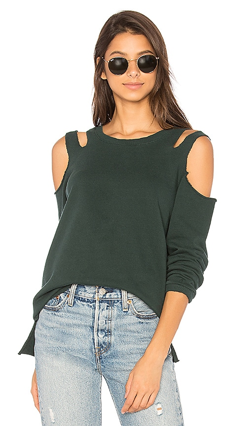 Sanctuary Park Slope Sweatshirt in Green