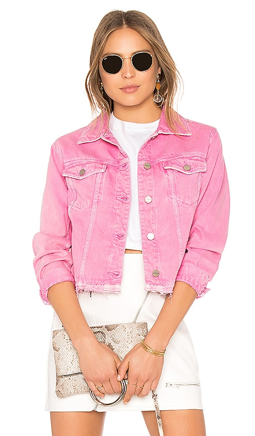 Sanctuary Denim Jacket in Fuchsia