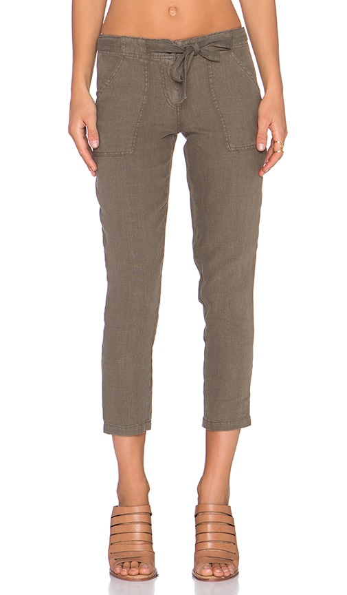Sanctuary New Tappered Sash Pant in Olive