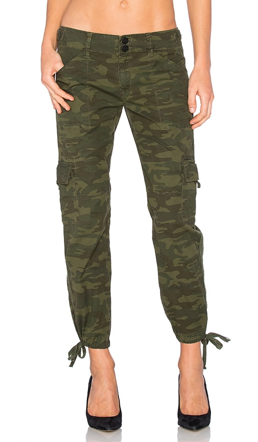 Sanctuary Terrain Crop Cargo Pant in Olive