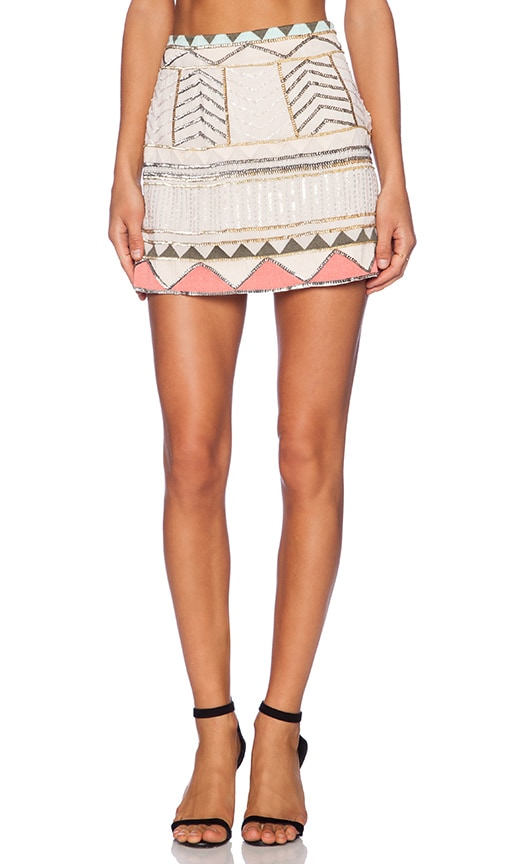 Sanctuary Party Mini Skirt in Ivory