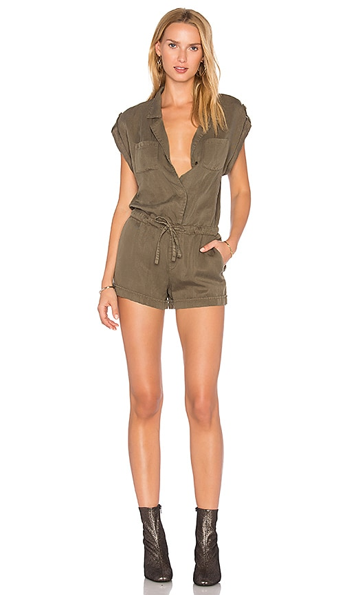 Sanctuary Adventurous Romper in Army