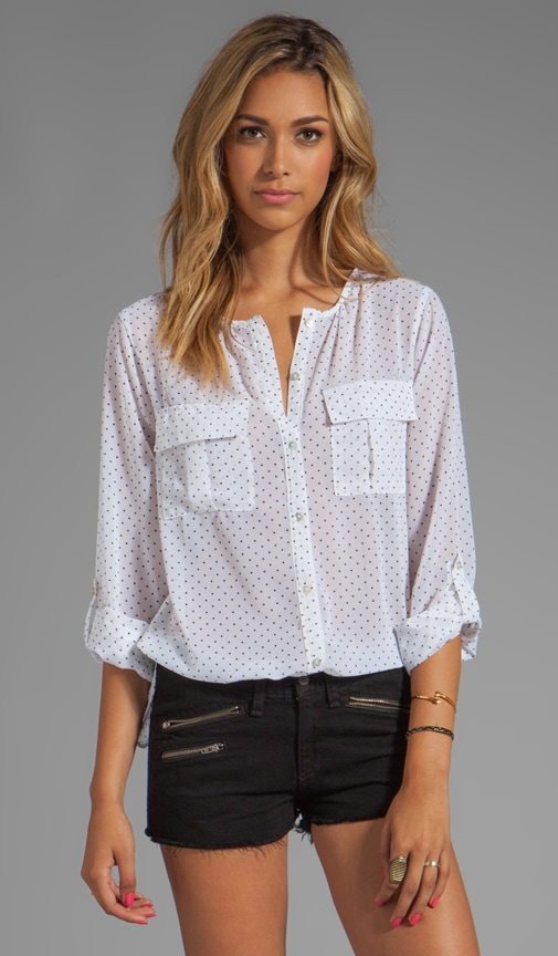 Black and White Cannes Sidewalk Cafe Top