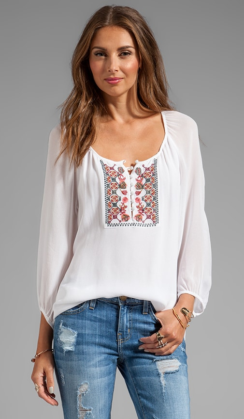 Soft Wovens Wild Belle Blouse