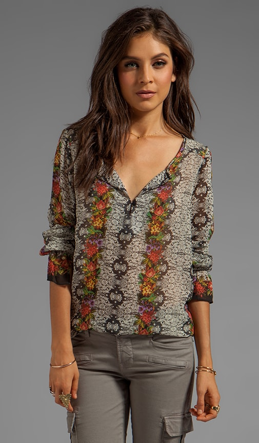 Soft Wovens Tapestry Blouse