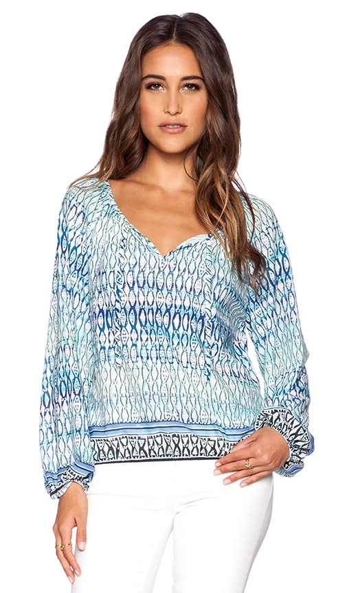 Sanctuary Gypsy Blouse in Blue Island