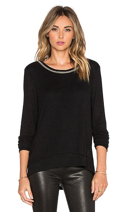 Sanctuary Michelle Mash Up Top in Black