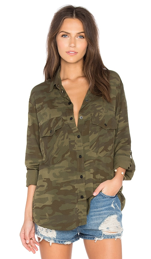 Sanctuary Boyfriend Shirt in Olive
