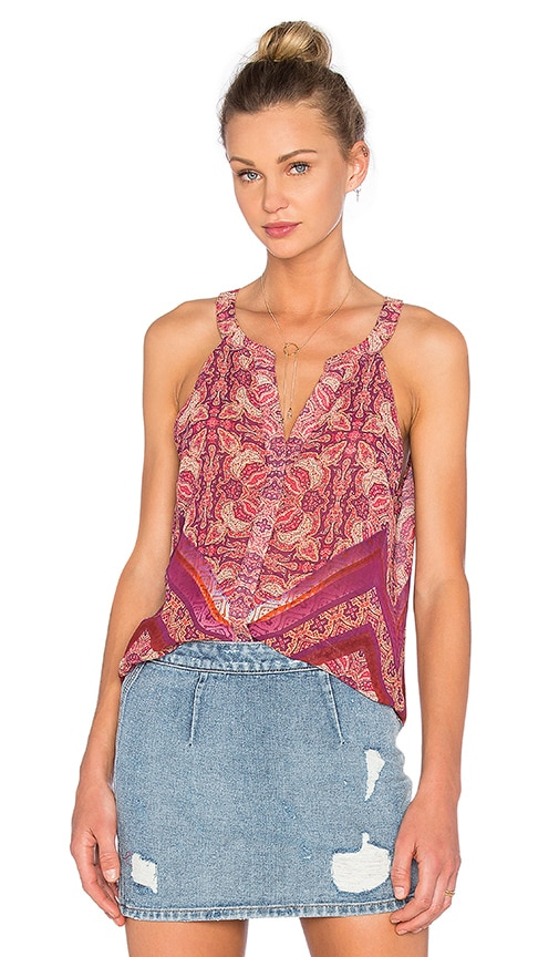 Sanctuary Border Shell Tank in Pink