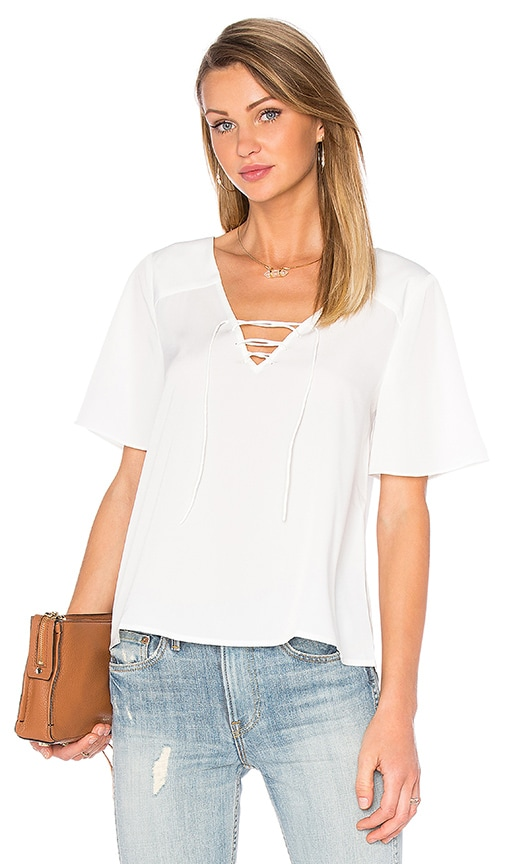 Sanctuary Kate Lace Up Top in White