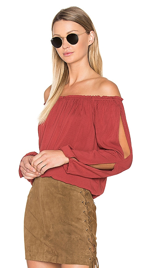 Sanctuary Chantel Blouse in Red