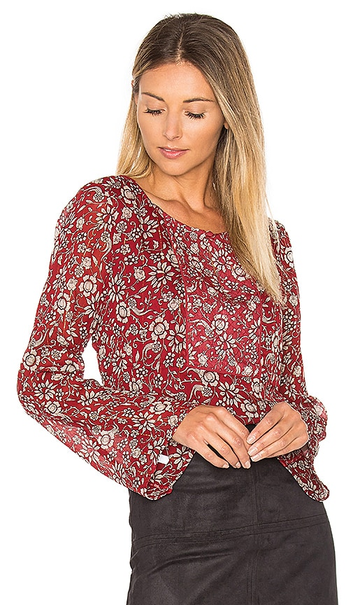Sanctuary Violetta Blouse in Red