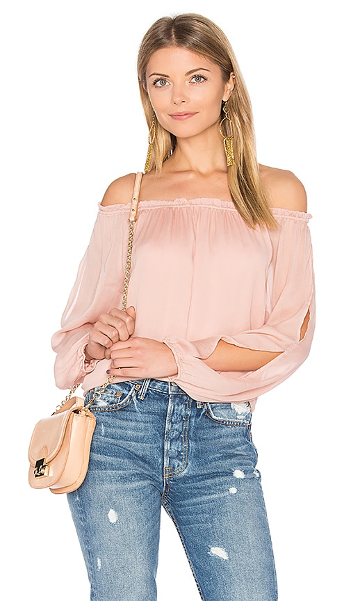 Sanctuary Chantel Off Shoulder Top in Pink