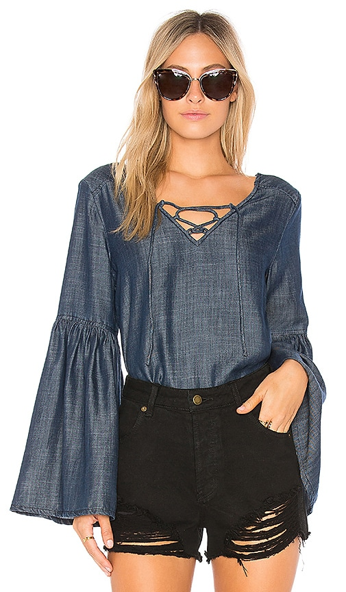 Sanctuary Lila Blouse in Navy