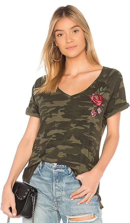 Sanctuary Camo Bloom Tee in Green