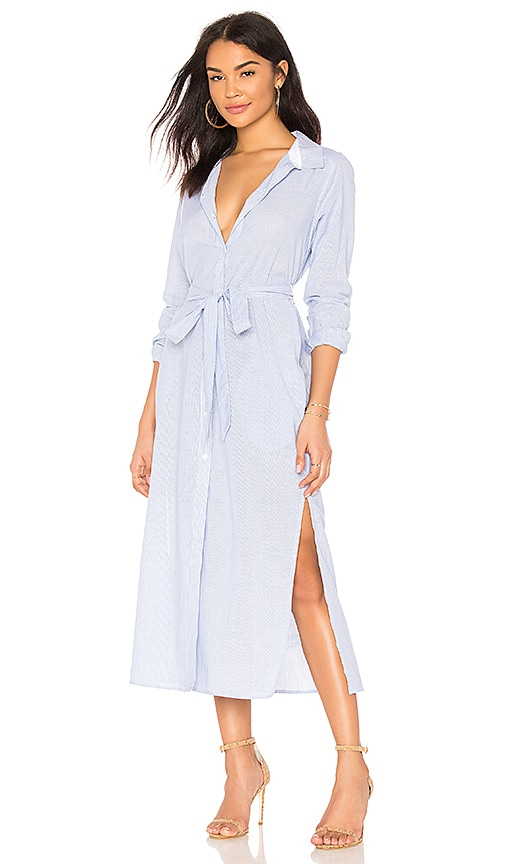 Jess Maxi Button Up in Blue. - size L (also in M,XL) Sanctuary