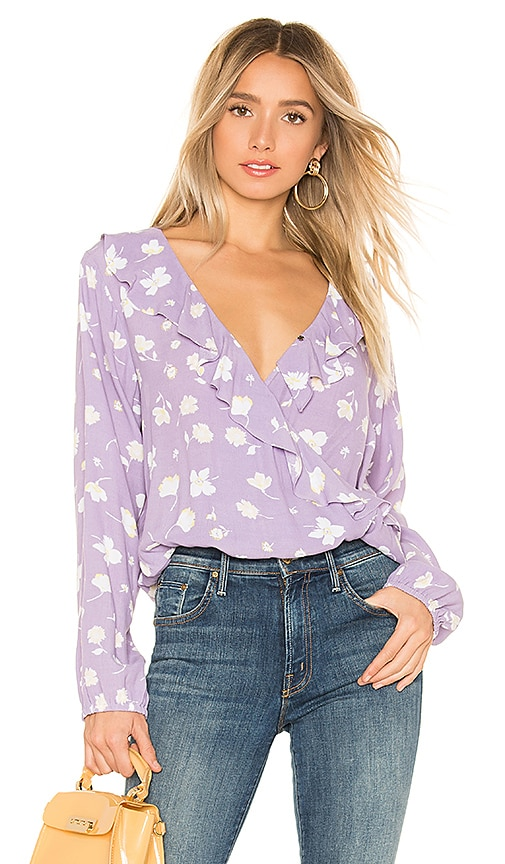 41ba1061ff0242 Sanctuary Jules Ruffle Wrap Blouse in Hello Spring | REVOLVE