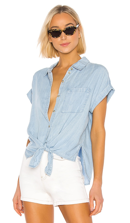Mod Tie Front Shirt