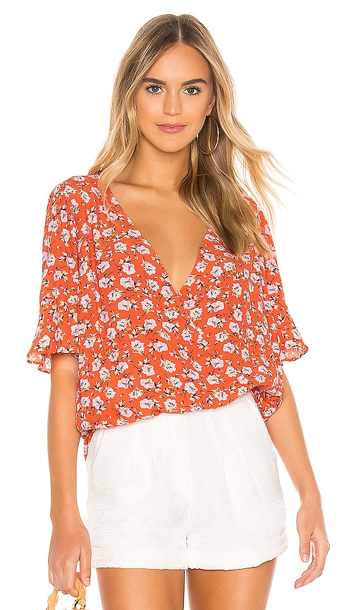 Garden Party Wrap Top