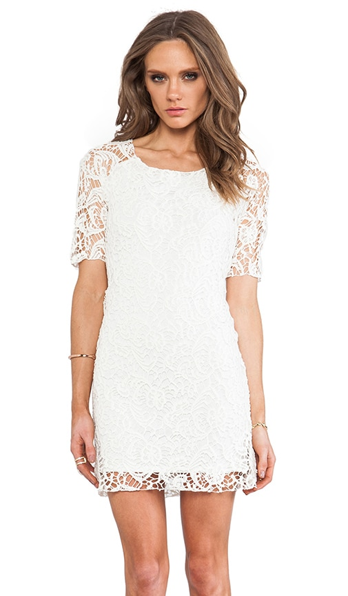 SAM&LAVI Anna Lace Dress in Off White