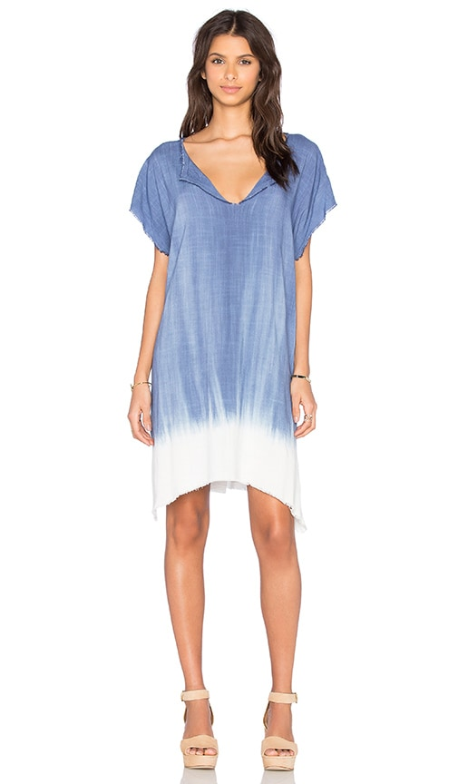 SAM&LAVI Mabel Dress in Malta Blue & Dip Dye Mojave
