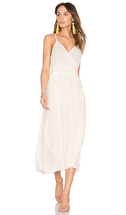 LAVI by SAM&LAVI Wrap Dress in White