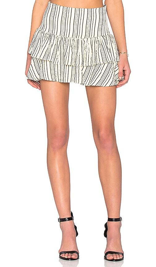 SAM&LAVI Iris Skirt in Bone Alex Stripe