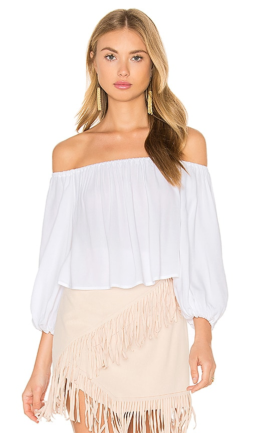 SAM&LAVI Elizabeth Top in White