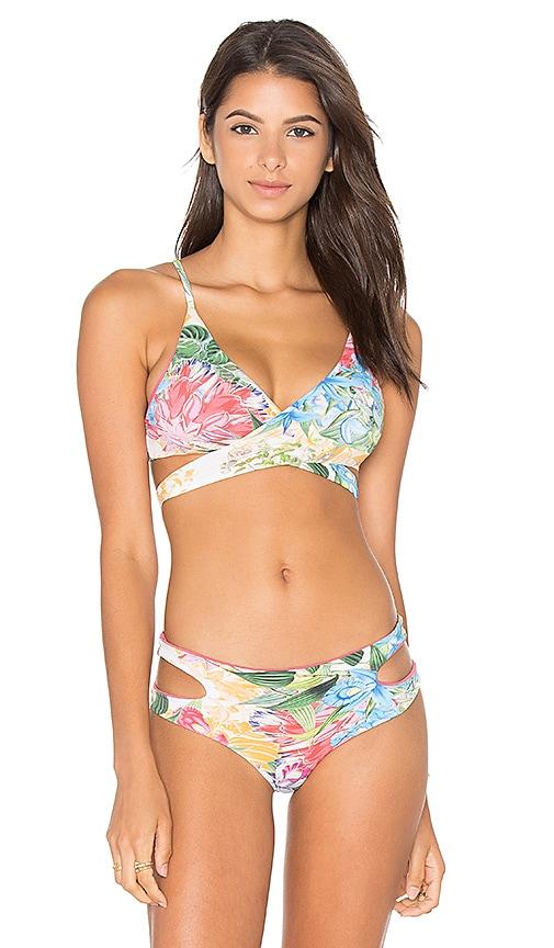 SAN LORENZO Cut Out Wrap Bikini Top in Pink