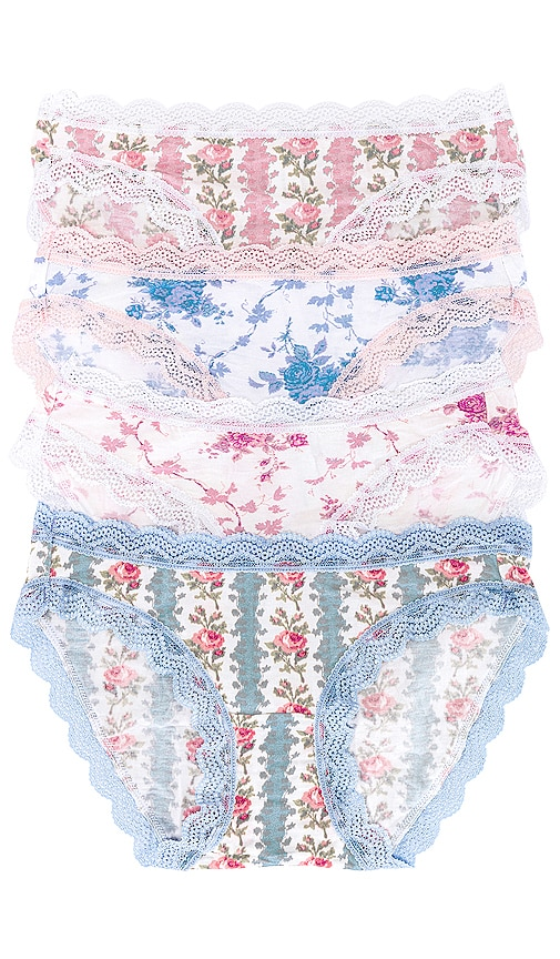 Stripe & Stare Cottons X LOVESHACKFANCY BLOOMING HEIRLOOM FOUR PACK. -