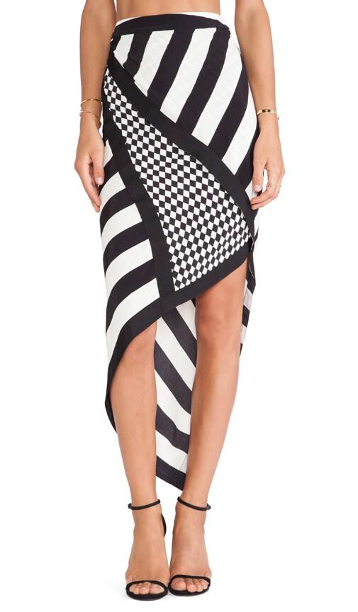 Sass Bide Great Tomorrow Skirt Scarf In Cream Black Revolve