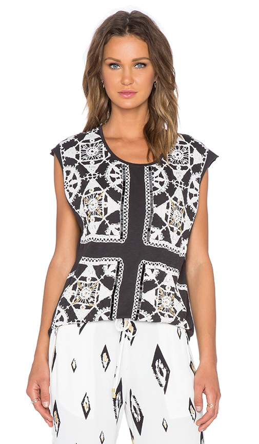 Sass & Bide It's All Real Top in Faded Black & Ivory