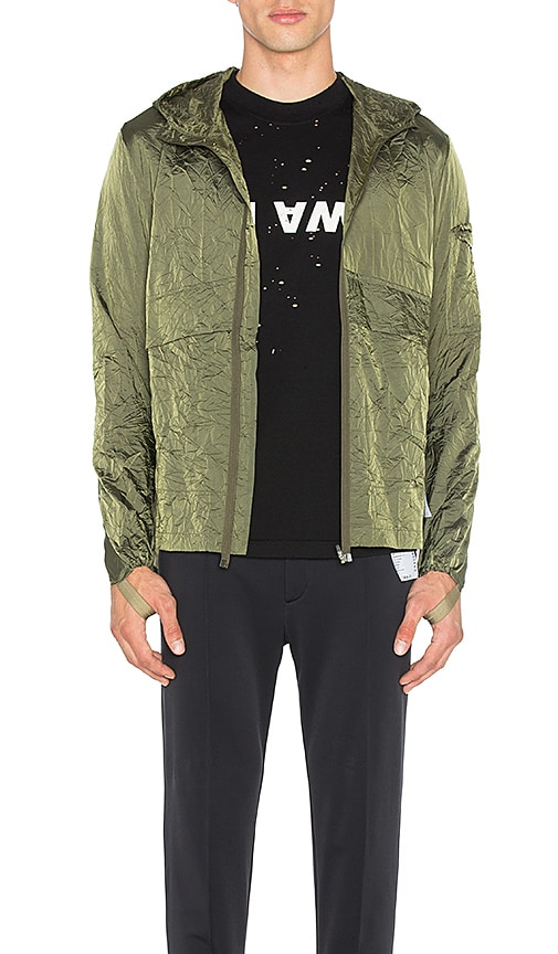 Satisfy Packable Zip Front Windbreaker in Green