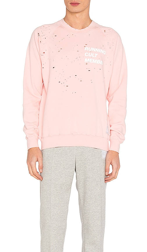 Satisfy Cult Moth Eaten Sweatshirt in Pink