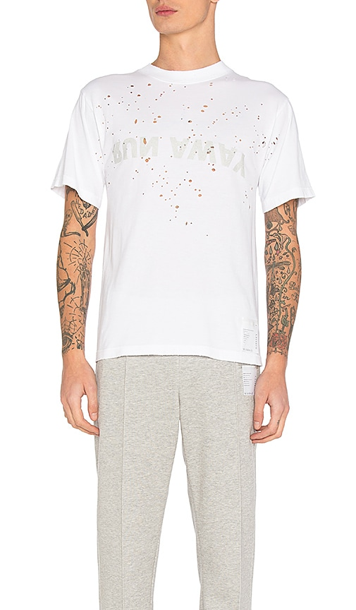 Satisfy Run Away Moth Eaten Tee in White