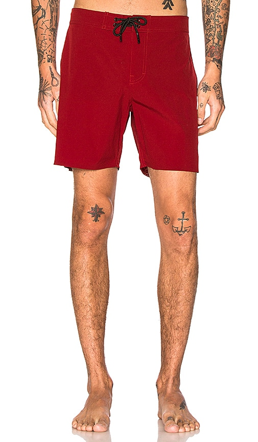 SATURDAYS NYC Danny Shorts in Red