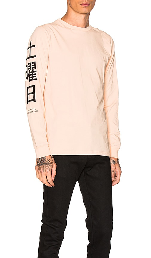 SATURDAYS NYC Hanja L/S Tee in Peach