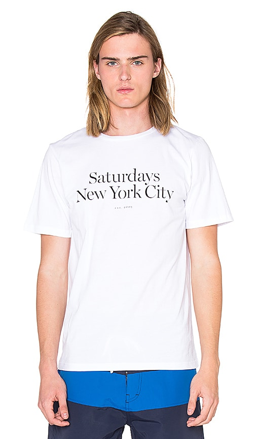 SATURDAYS NYC Miller Standard Tee in White