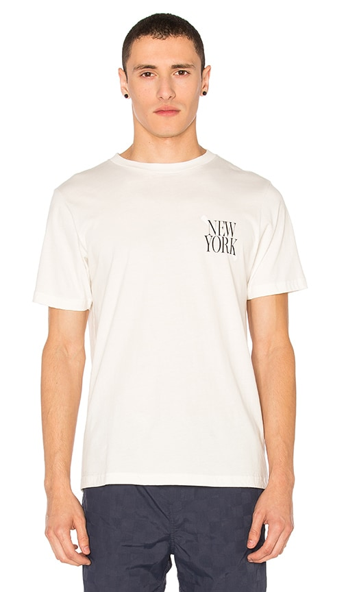 SATURDAYS NYC NY Slash Tee in Off White
