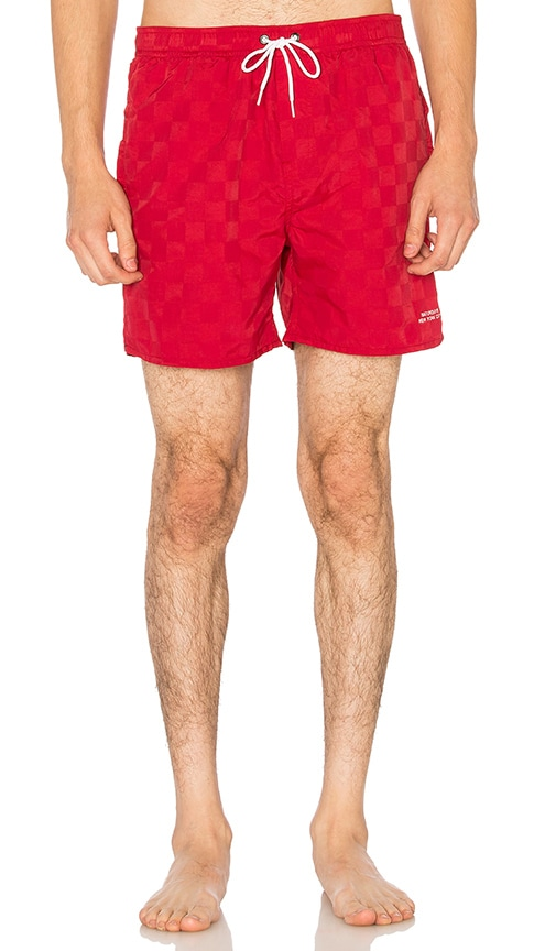SATURDAYS NYC Timothy Board Shorts in Red