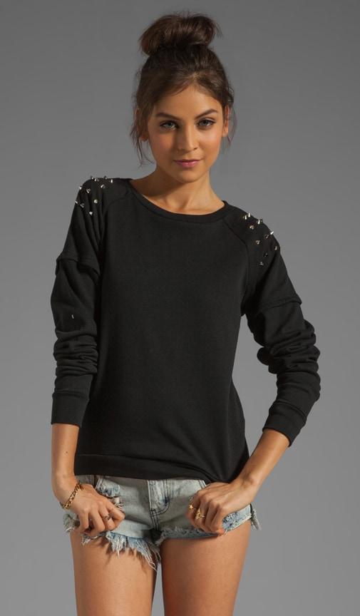 Studded Crew Sweatshirt